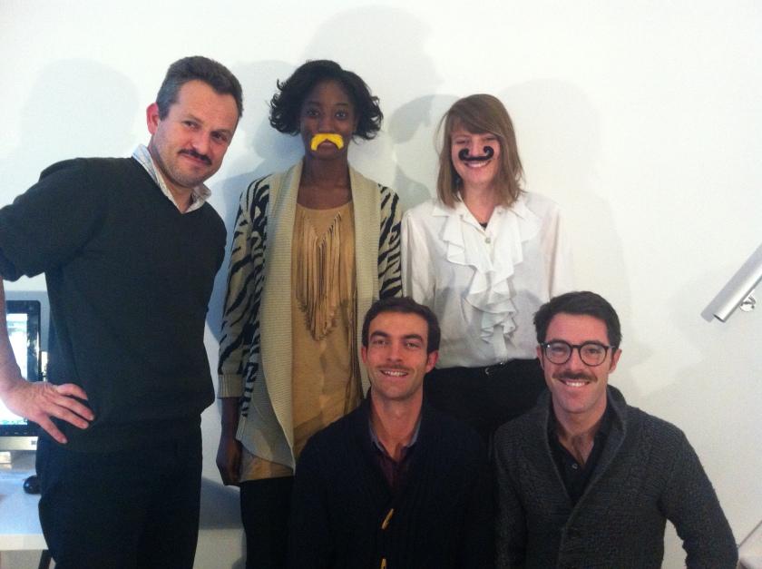 François, Aminata, Laura, Guillaume et Julien